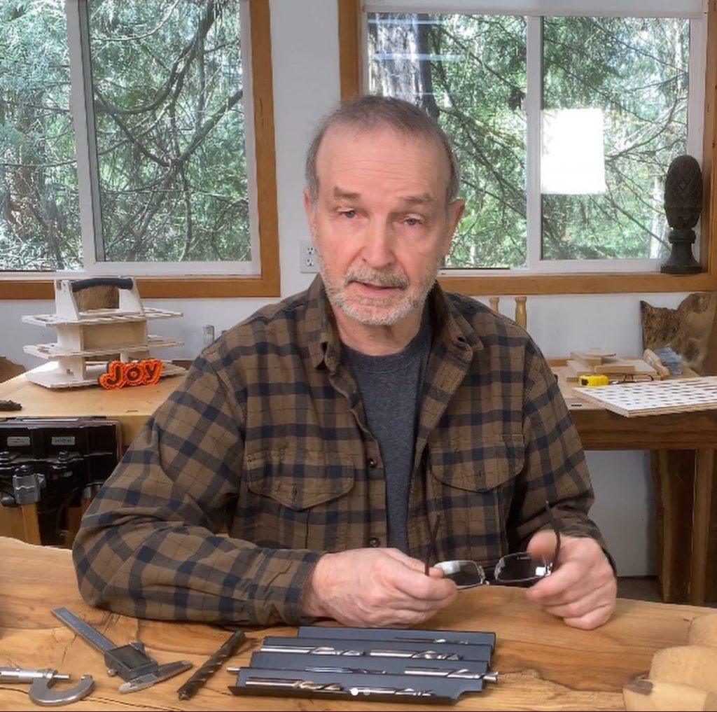 Tim Celeski in the shop